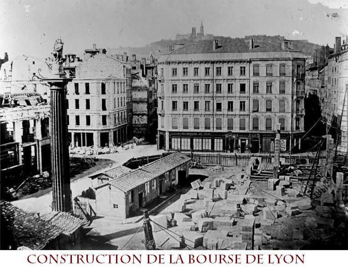 Construction de la bourse de Lyon